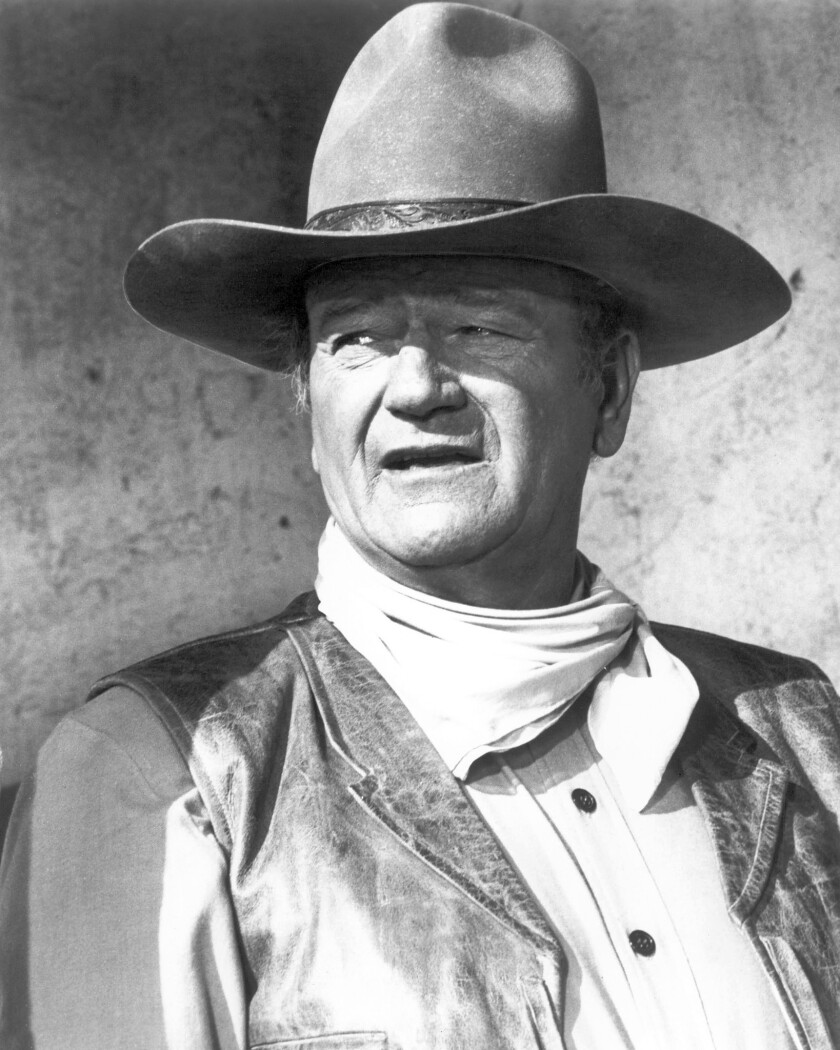 "John Wayne is pictured in ""Rio Lobo,"" a film from 1970."