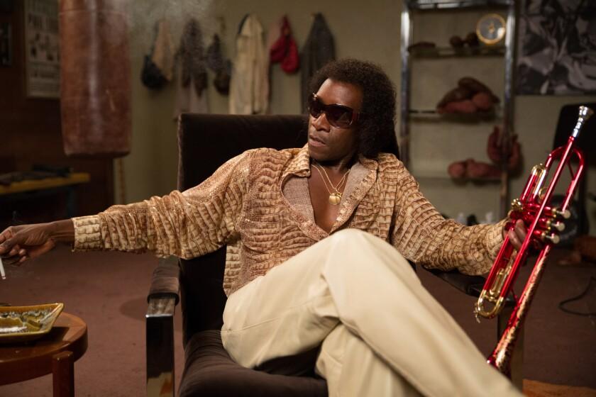 "Don Cheadle as Miles Davis in ""Miles Ahead."""