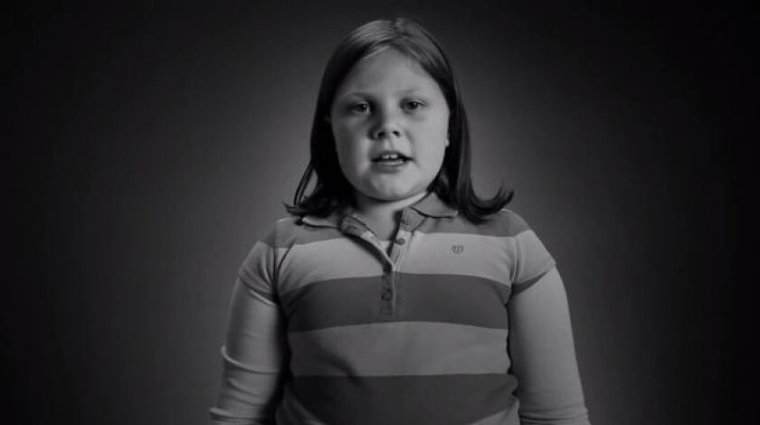 "Girls labeled ""fat"" at 10 are more likely to be obese at 19, a new study finds. Above, a screen grab from the 2011 Strong 4 Life Campaign that ran in Georgia."