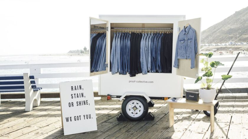 Denim jackets from Proof Collective are on view in Malibu until the last weekend of the month. Cred