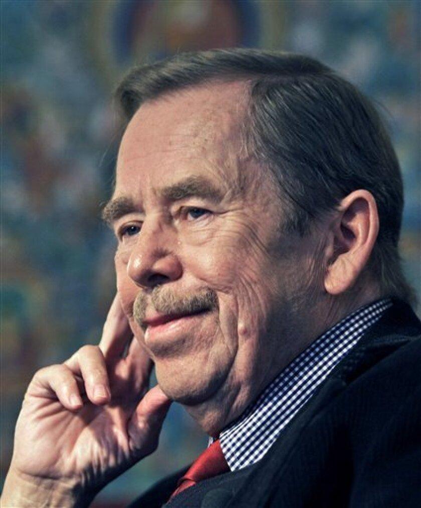 Former Czech Republic President Vaclav Havel  (AP Photo/Petr David Josek)