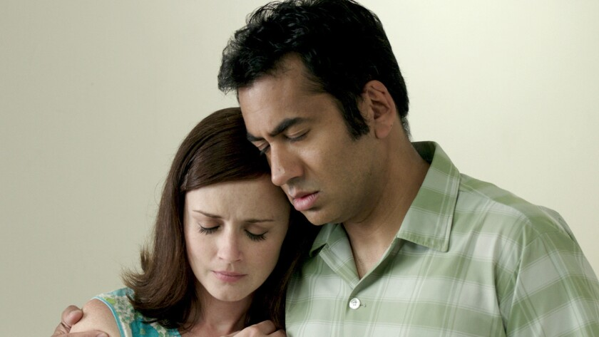 """Alexis Bledel and Kal Penn in the movie """"Emily & Tim."""""""