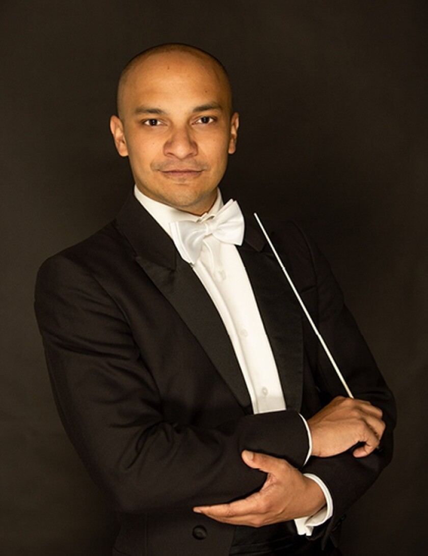 Guest conductor Christopher Dragon
