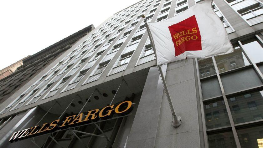 A Wells Fargo bank branch in San Francisco.