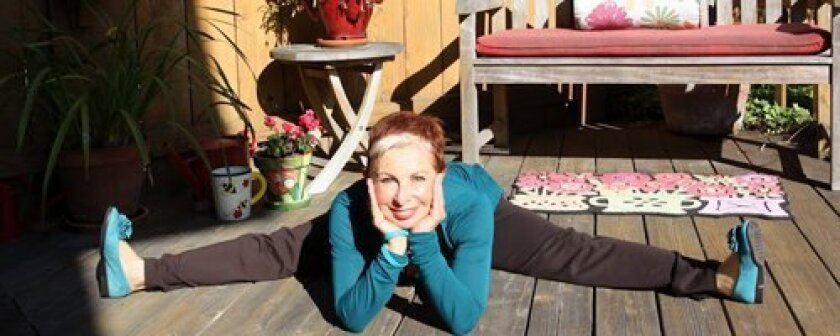 Doing the splits is no problem for Naomi Whitacre, a local ovarian cancer survivor-turned advocate.