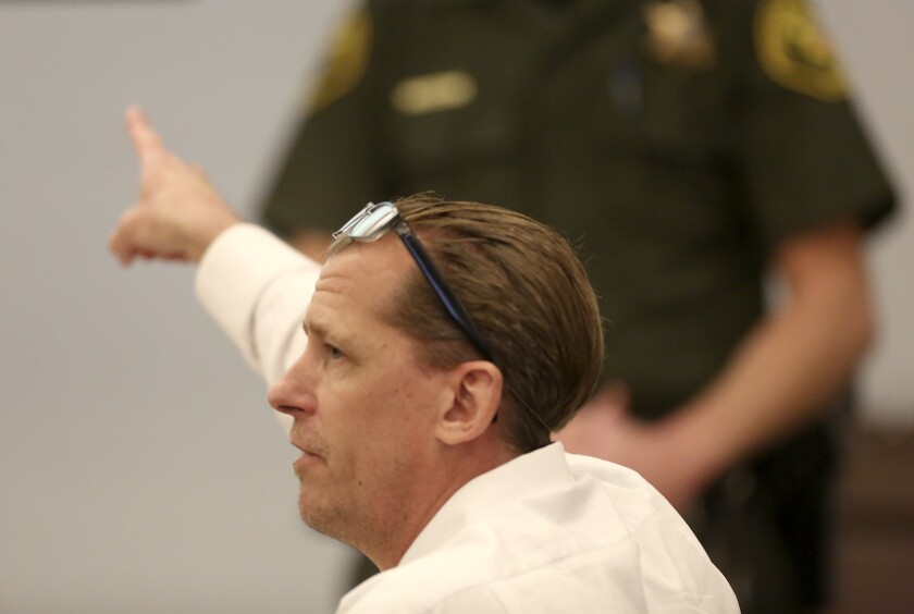 Steven Gordon, seen representing himself in court Thursday, was convicted of killing four women in Santa Ana and Anaheim.