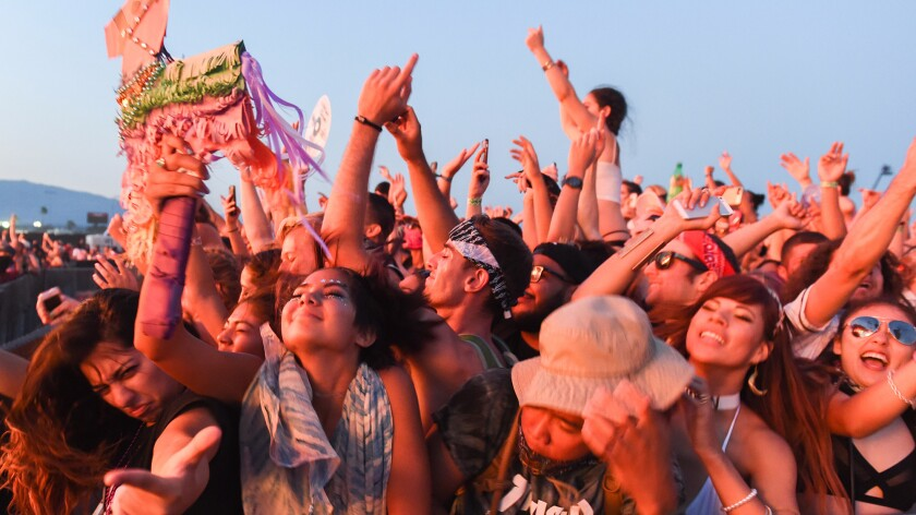 People at the HARD Summer Music Festival at the Auto Club Speedway near Fontana on July 31, 2016.