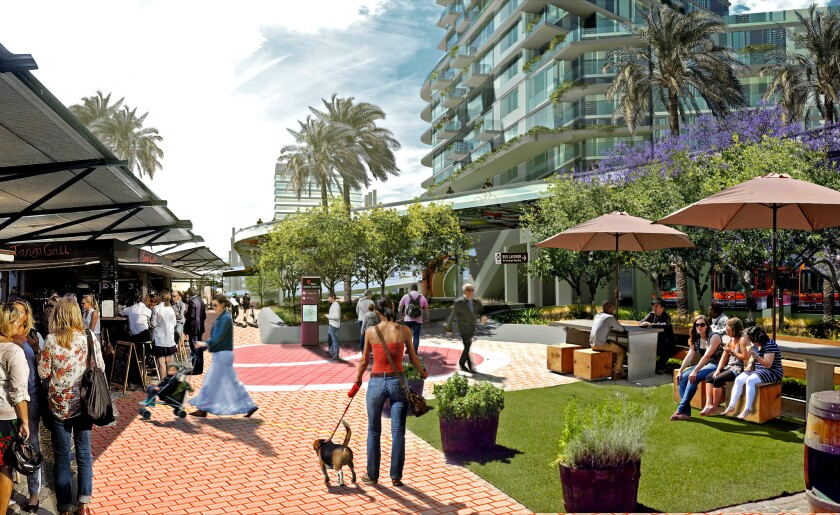 Rendering of NoHo arts district project proposed by Greenland USA and Trammell Crow Co.