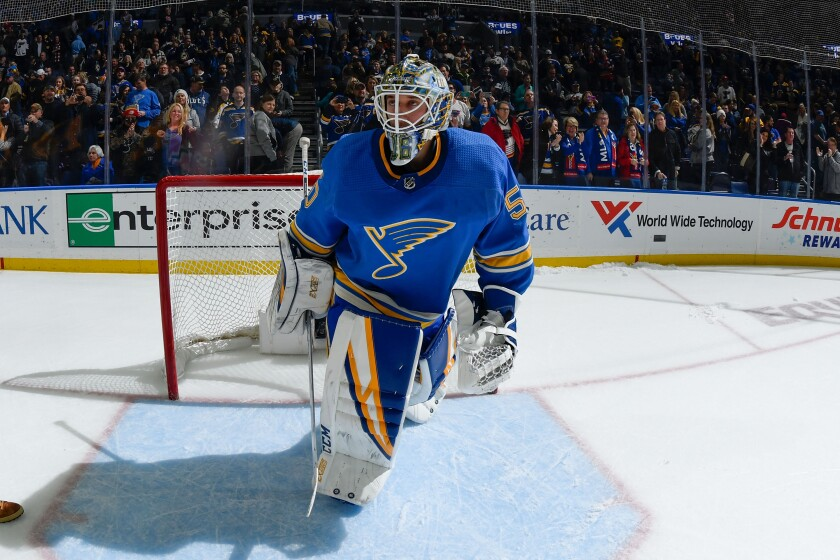 St. Louis Blues goaltender Jordan Binnington played a decisive role in helping the team capture its first Stanley Cup title in June.