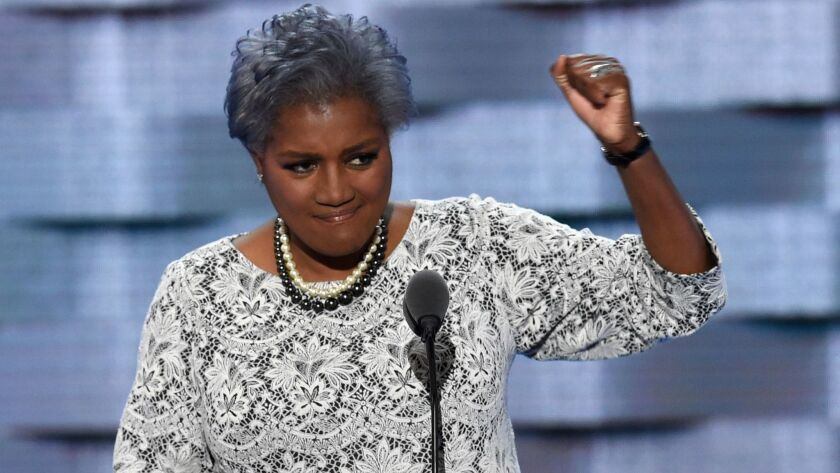 New Fox News contributor Donna Brazile during the second day of the 2016 Democratic National Convention at the Wells Fargo Center in Philadelphia.