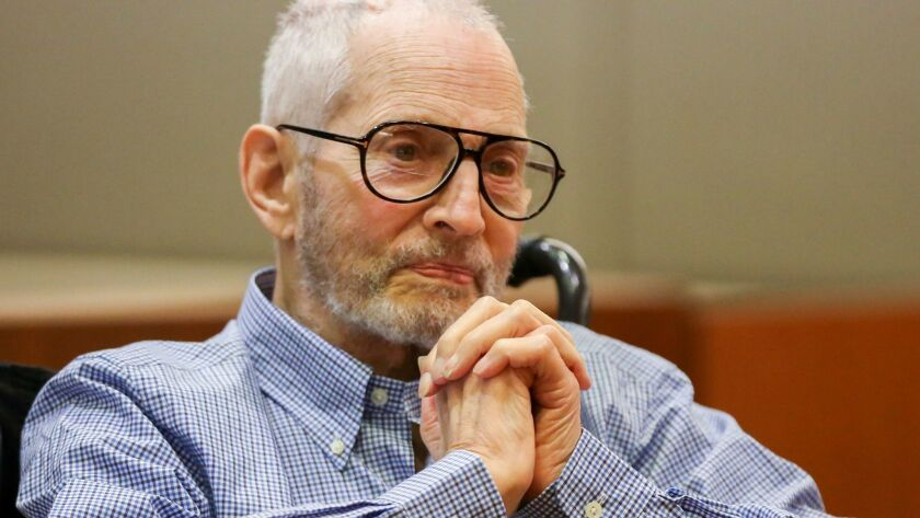New York real estate scion Robert Durst appears in a Los Angeles courtroom in his murder case earlier this year.