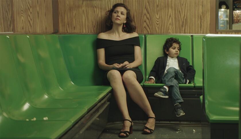 "(L-R) - Maggie Gyllenhaal and Parker Sevak appear in ""The Kindergarten Teacher"" by Sara Colangelo, a"