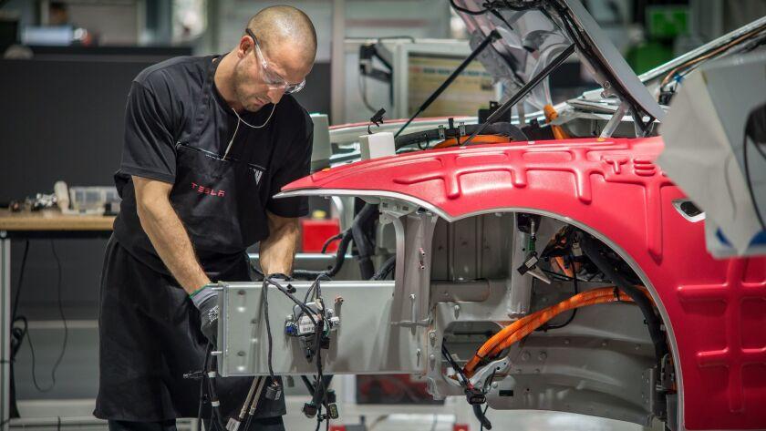 Tesla's car factory