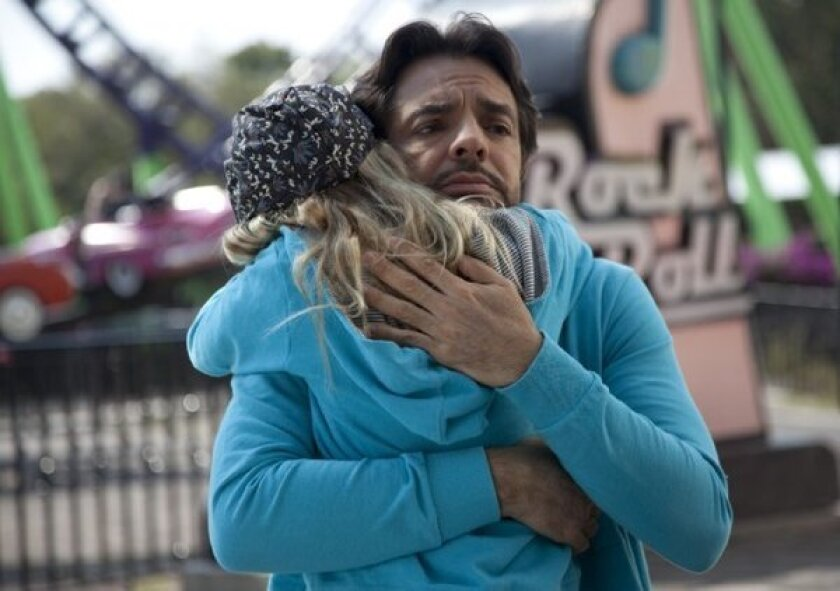 """Eugenio Derbez and Loreto Peralta star in a scene from """"Instructions Not Included,"""" which did fantastic business at the box office this weekend."""