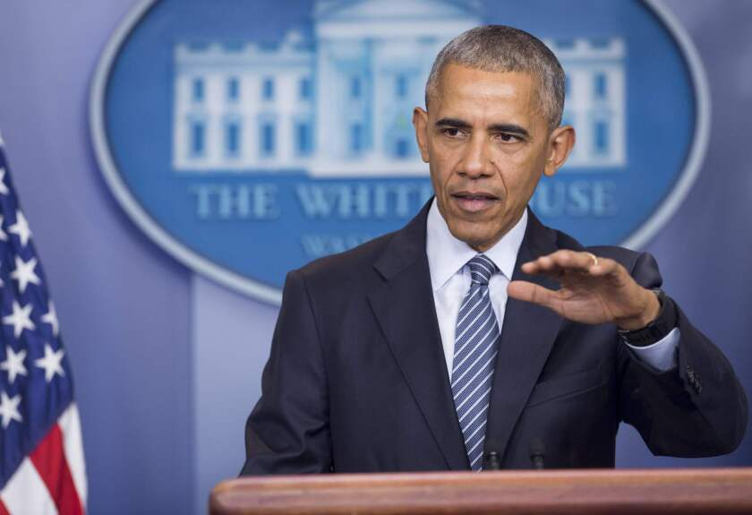 At a news conference Monday, President Obama appeared to be trying to publicly educate his successor.