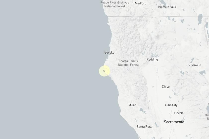 Quake near Fortuna, Calif.