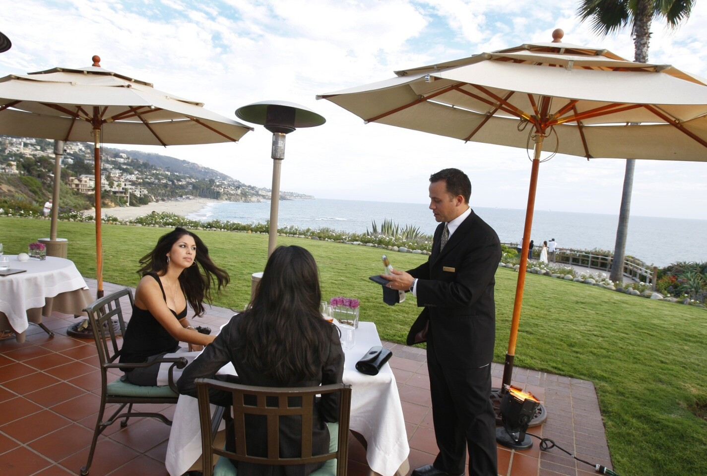 For seaside romance, Studio restaurant at the Montage Resort in Laguna Beach is steps from the waves.