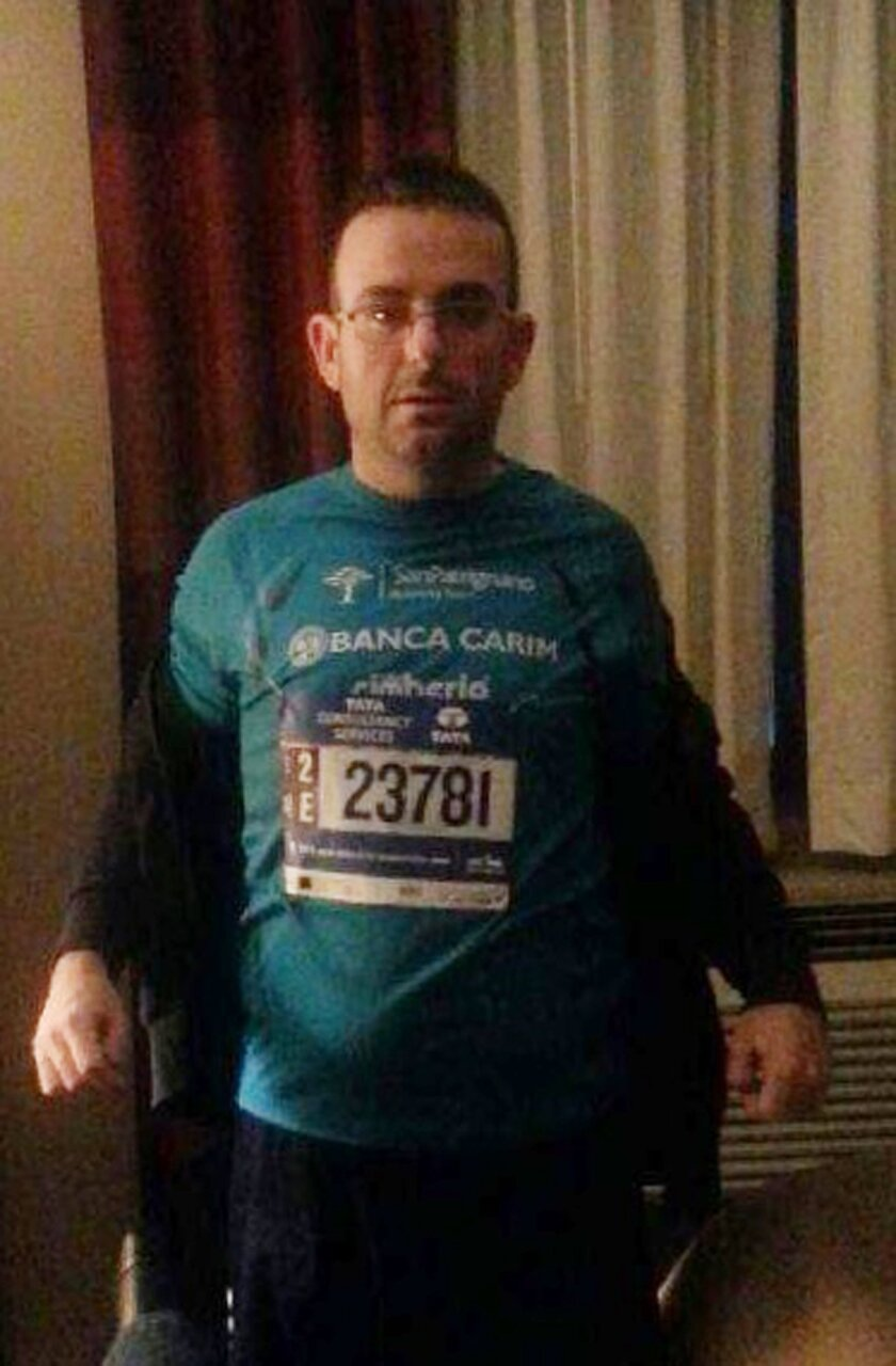 This undated photo provided by the New York Police Department shows Gianclaudio Marengo. The NYPD is asking for the public's help in locating Marengo, an Italian man who speaks only Italian and is mentally challenged, who ran in the New York City Marathon. Police said Marengo was last seen at the f