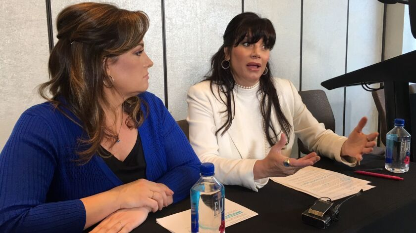 Nina Romero, left, and twin Dina Shacknai, were dismissed from a lawsuit in the death of Rebecca Zah