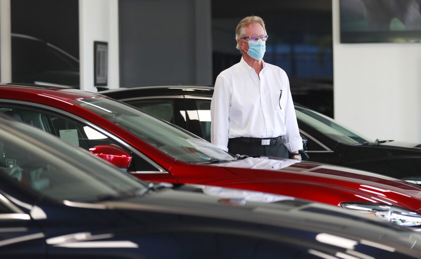 Dave Miller, general manager at John Hine Mazda in Mission Valley, says the dealership had one of its best sales weekends over the Memorial Day weekend.
