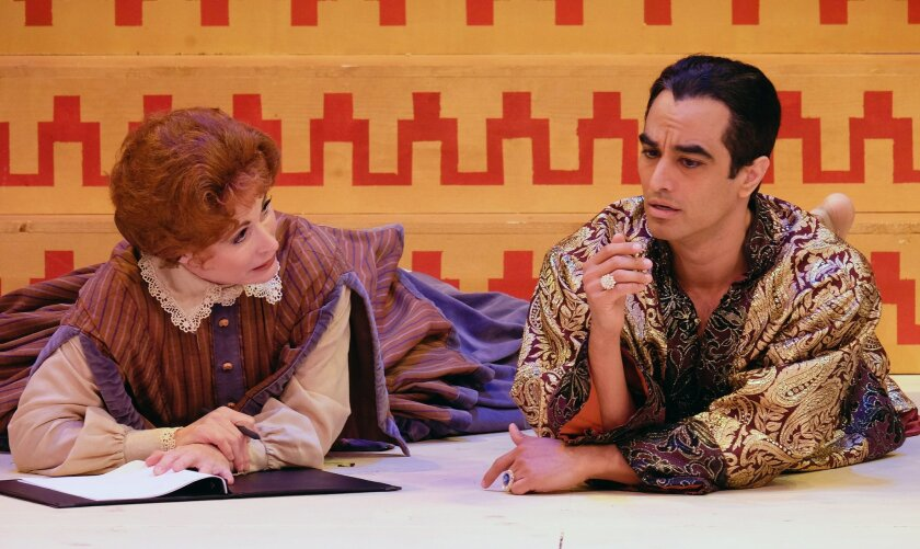 """Victoria Strong and Richard Bermudez star in The Welk Theatre's """"The King and I."""""""