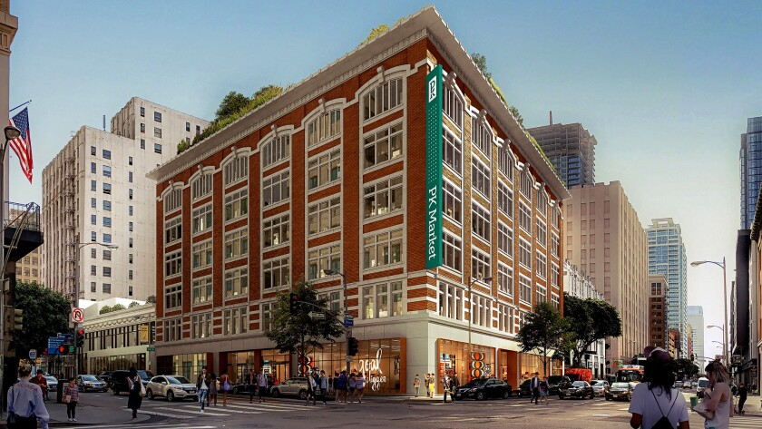 Rendering of 7th & Olive, a historic former department store in downtown Los Angeles where South Kor