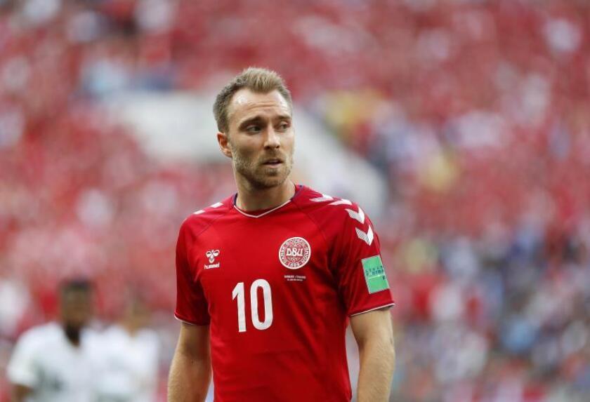 Christian Eriksen durante un partido del Mundial de Rusia. EFE/Archivo
