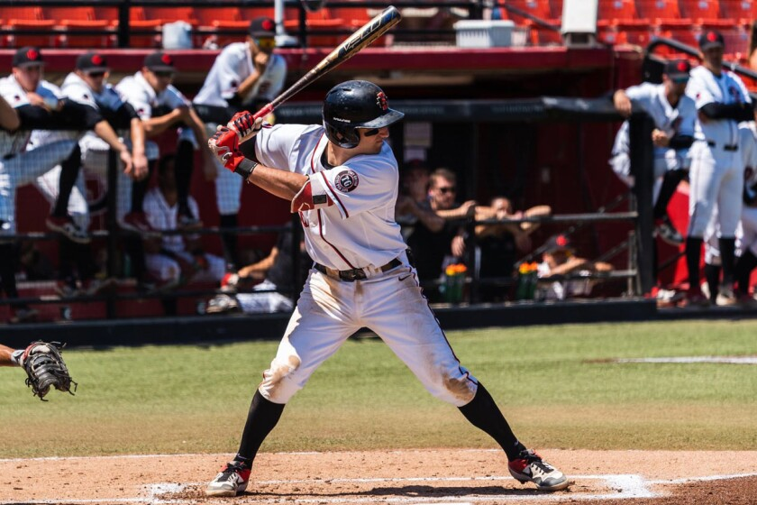 Junior Casey Schmitt is San Diego State's top returning run producer after batting .315 last season with five homers and 36 RBIs.