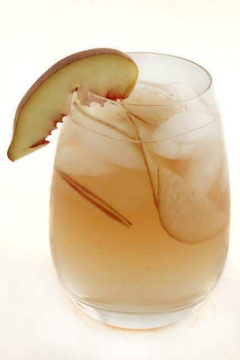 The white hot peach sangria, adapted from a recipe from Cafe del Rey in Marina del Rey.