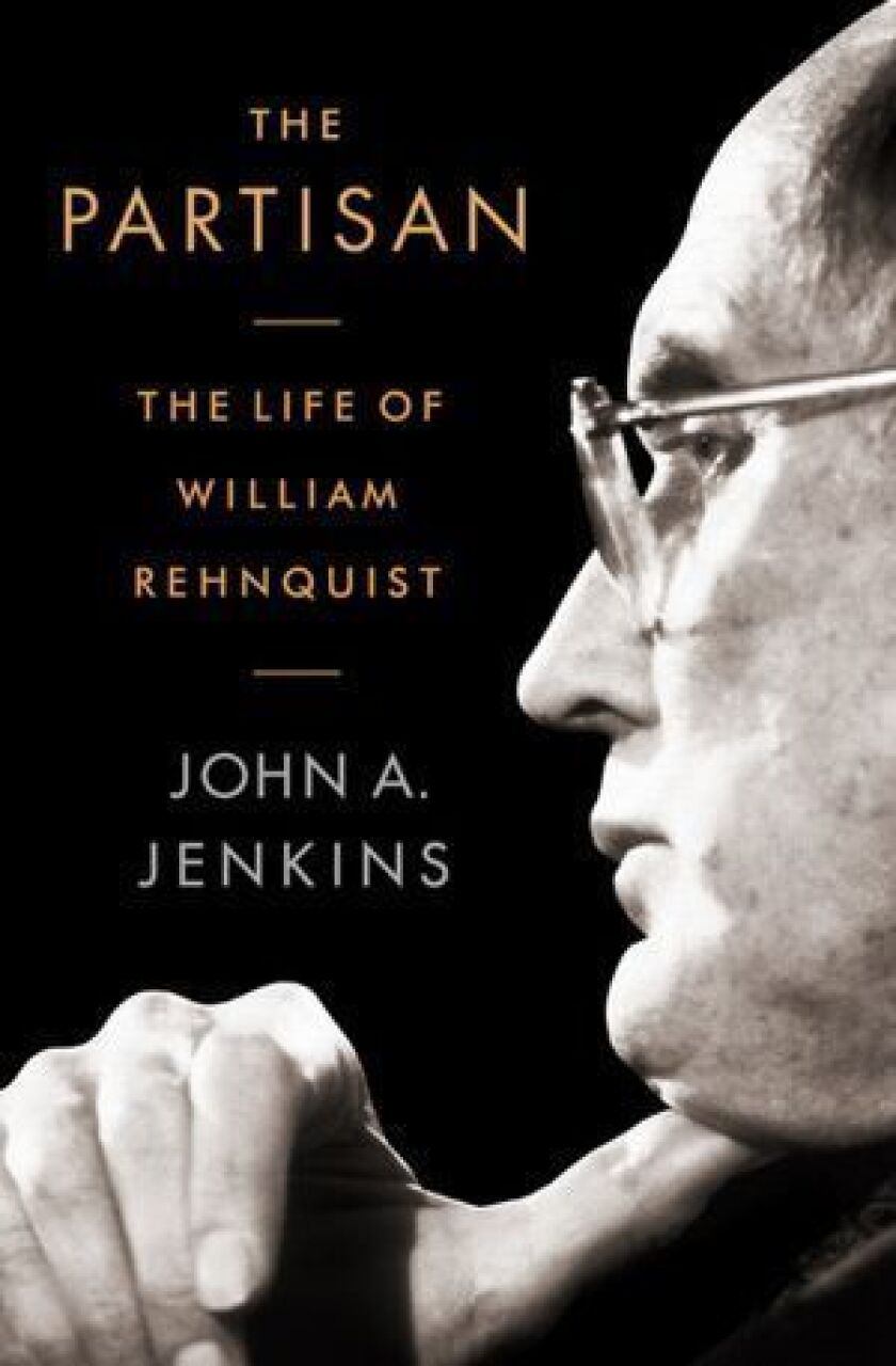 Cover of 'The Partisan: The Life of William Rehnquist' by author John A. Jenkins.