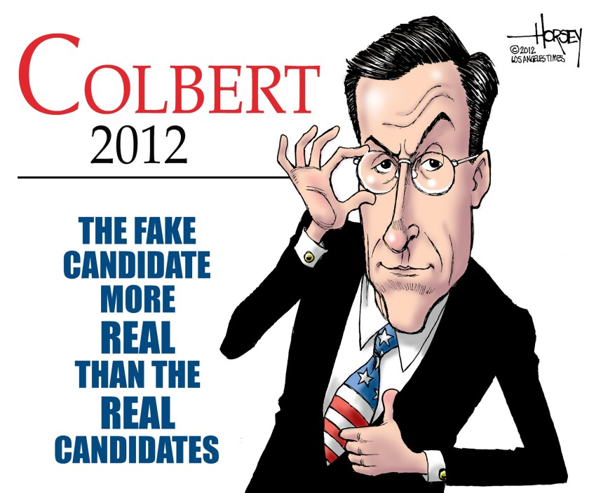 Stephen Colbert is the real fake candidate