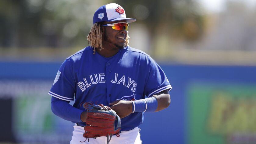 Toronto Blue Jays third baseman Vladimir Guerrero Jr. during the second inning of a spring training