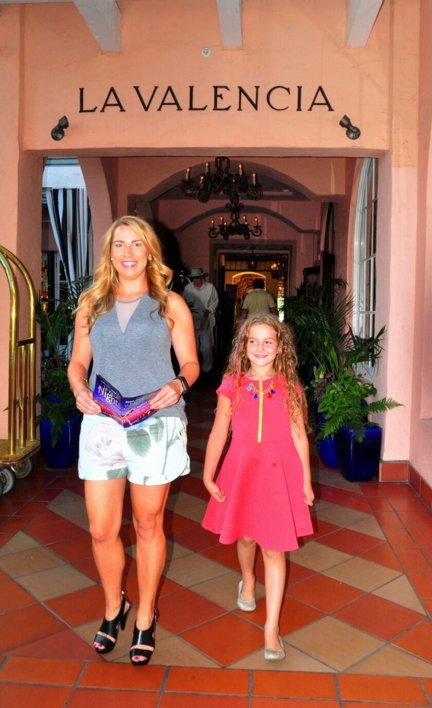 Stephanie Brooks and friend Noelle visit La Valencia Hotel which showcased works provided by Contemporary Fine Arts Gallery
