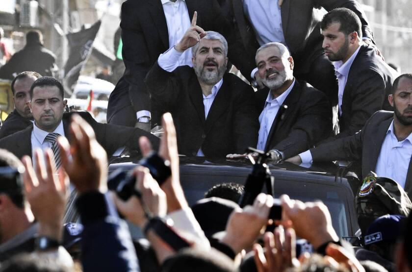 Exiled Hamas leader Khaled Meshaal visits Gaza for first time