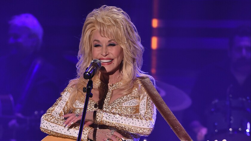 """Dolly Parton visits """"The Tonight Show Starring Jimmy Fallon"""" at Rockefeller Center in New York on Aug. 23."""