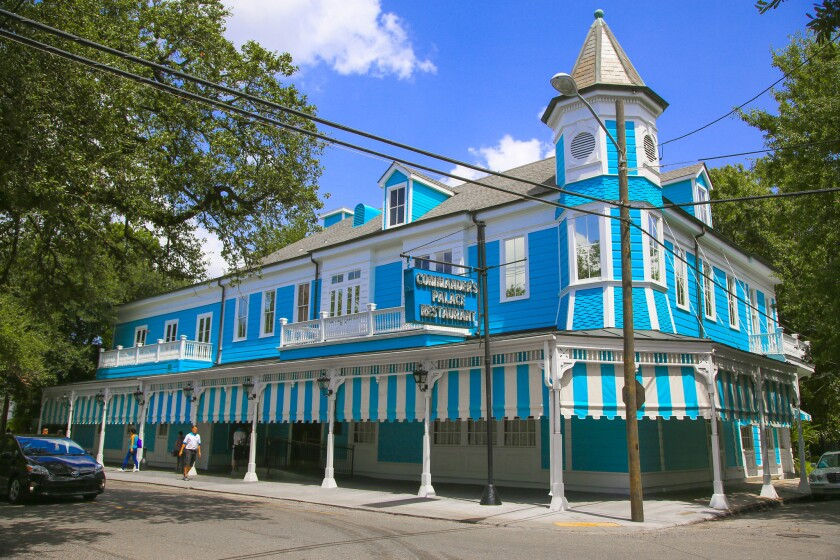 Legendary Commander's Palace, established in 1880, is in New Orleans' Garden District. It proved an excellent place for a reunion of colleagues.