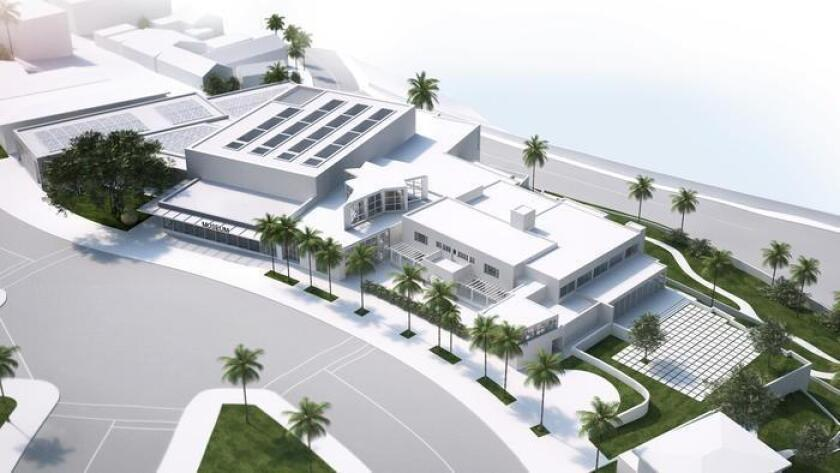A bird's eye view of MCASD's planned expansion in La Jolla.