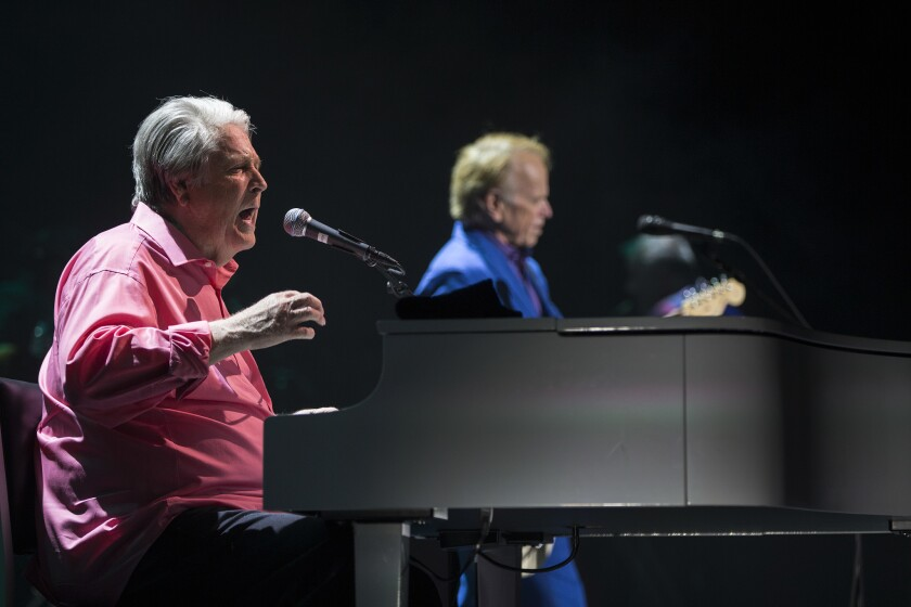 Beach Boys founding members Brian Wilson, left, and Al Jardine during the Pet Sounds Live tour.