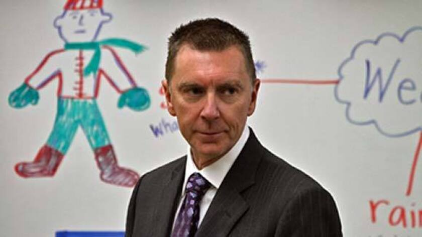 Los Angeles Unified School District Supt. John Deasy at Quincy Jones Elementary School in January.