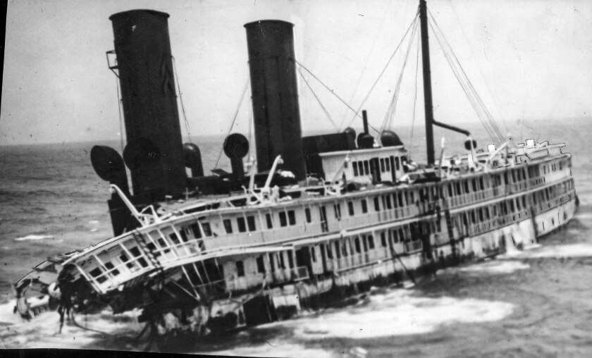 The wreck of the S.S. Harvard