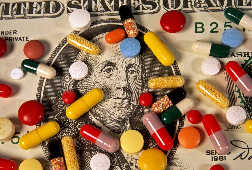 Pills and cash