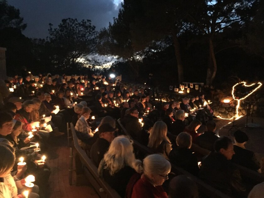 About 150 people gathered to remember the victims of gun violence Dec. 13 at the Unitarian Universalist Fellowship of San Dieguito in Solana Beach.
