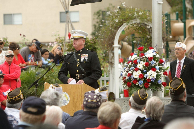 Guest speaker Lt. Col. David McCarthy, USMC Retired