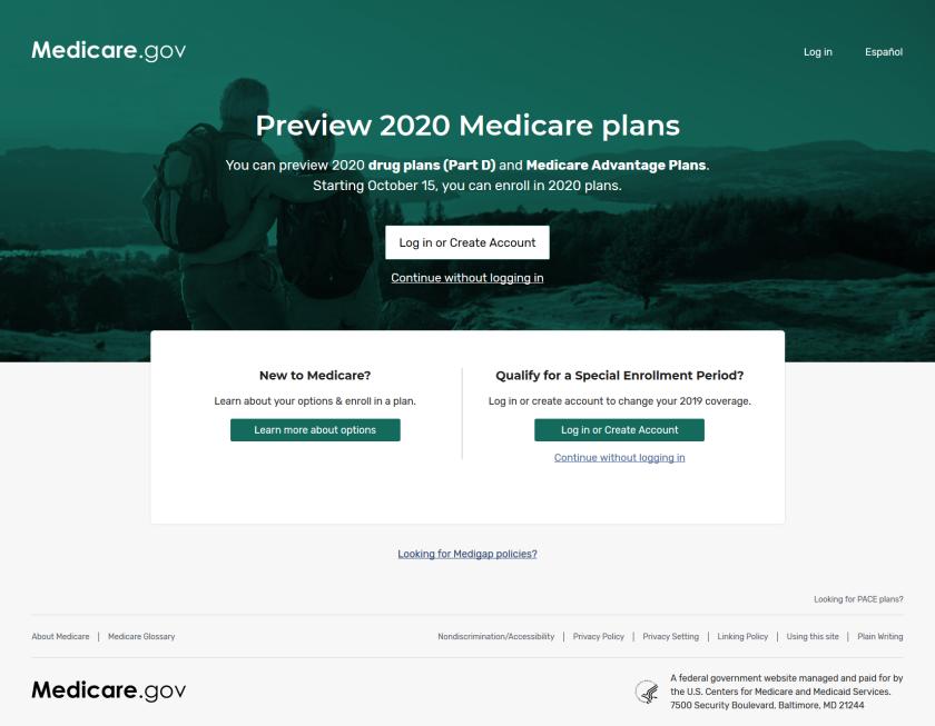 El sitio de planes de Medicare