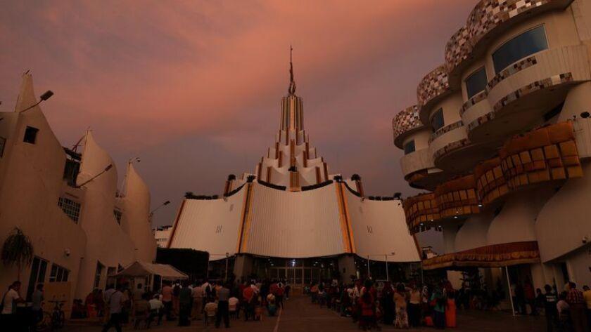 The flagship temple of the La Luz del Mundo church in Guadalajara.