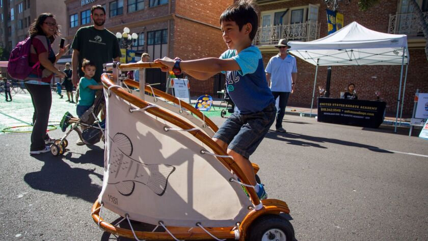 The annual Fall Back Festival in the Gaslamp features historic fun and games and free food for kids.