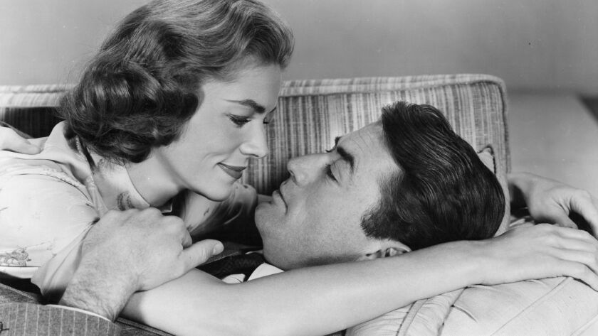 """Gregory Peck and Lauren Bacall in """"Designing Woman."""""""