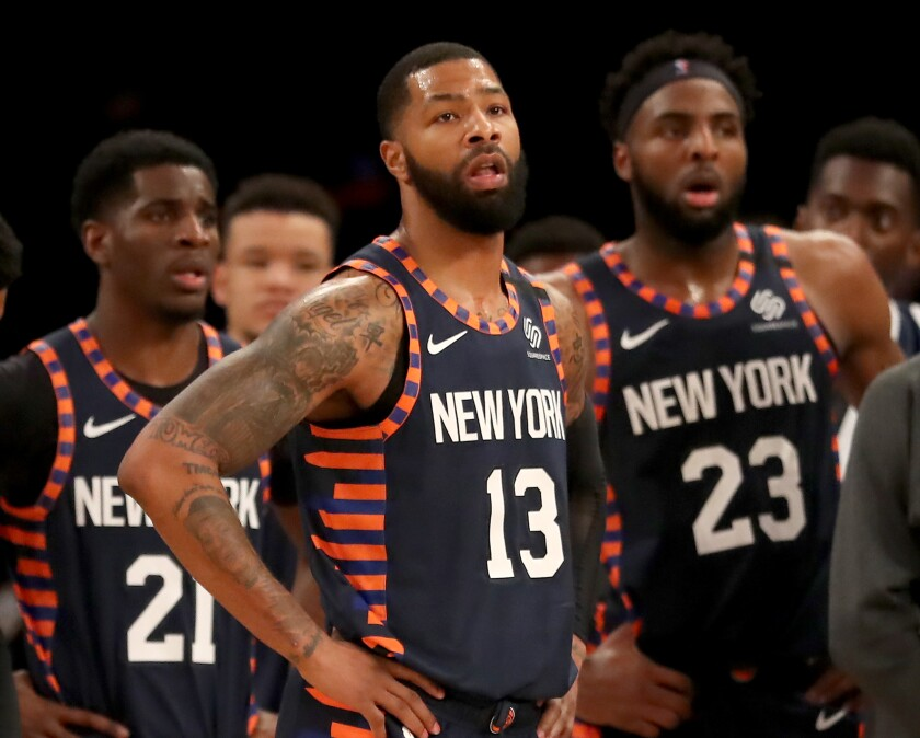 New York Knicks forward Marcus Morris (13) is drawing plenty of interest at the NBA trade deadline.