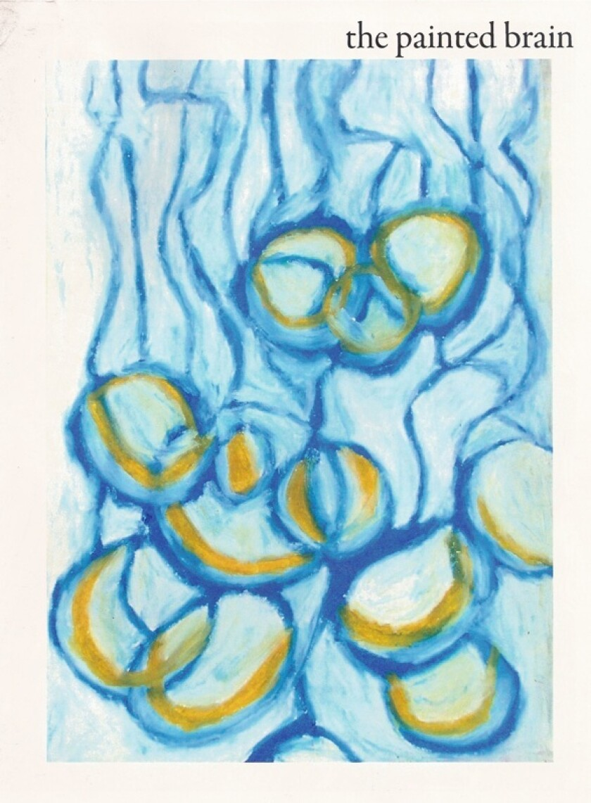 Painted Brain magazine cover, the art is of blue and yellow cells
