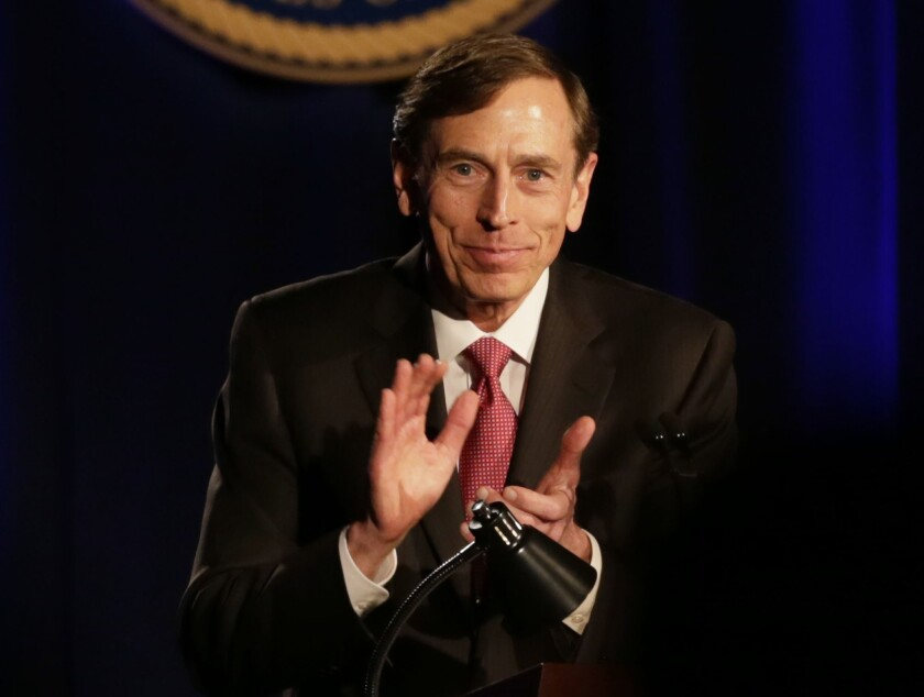 David Petraeus stepped down in November 2012 as head of the CIA after his affair with an Army reserve officer who was writing his biography became public.